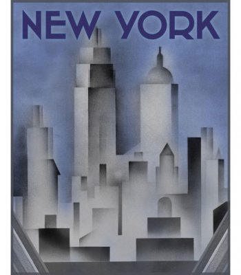 art deco new york print