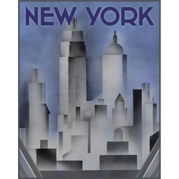 art deco new york print