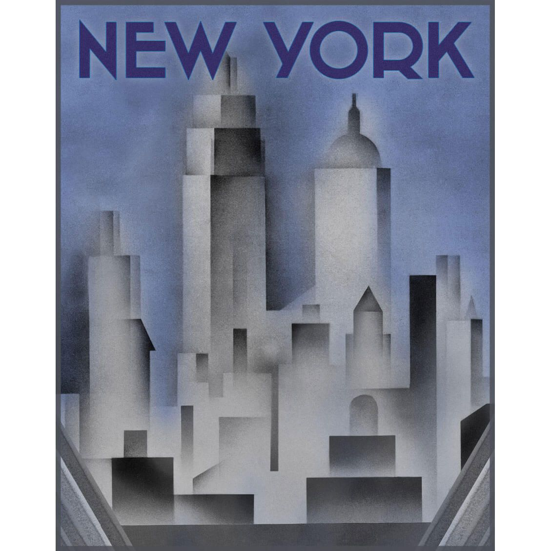 Art Deco Poster New York.Art Deco New York