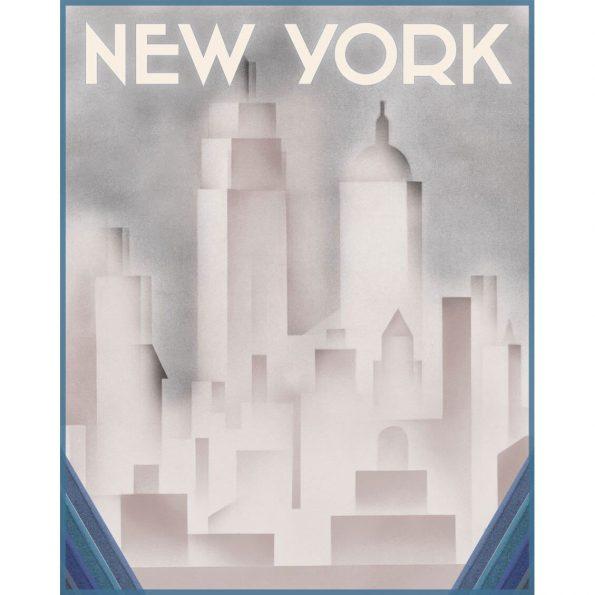 vintage art deco new york poster