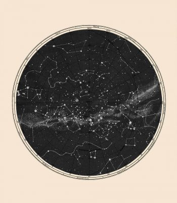 Minimal Constellation Map Capricorn Press