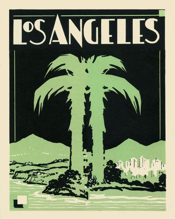 art deco los angeles print