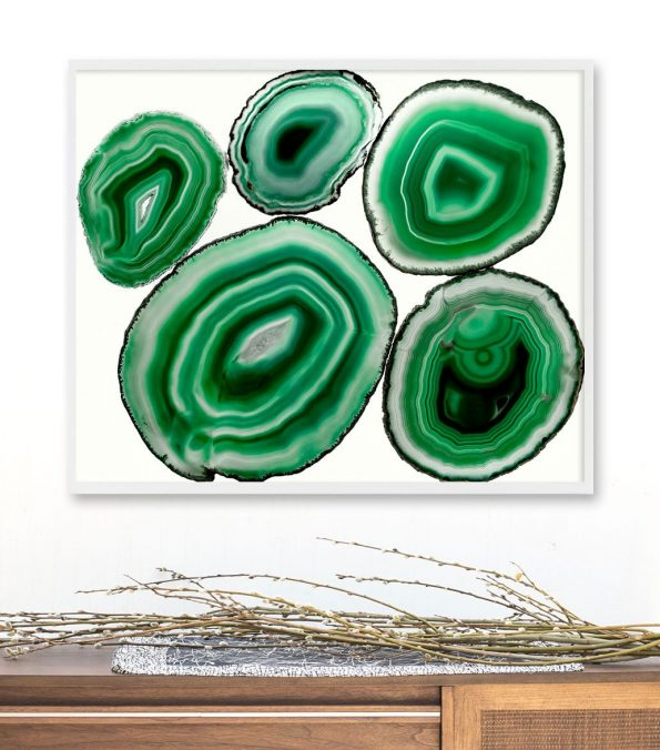 emerald green agate art