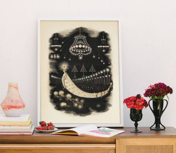french surrealist romantic print