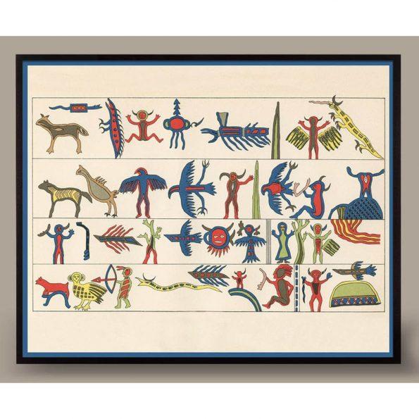 vintage native american art print