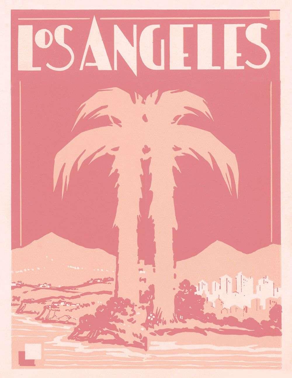Home Capricorn Press - Vintage los angeles map poster