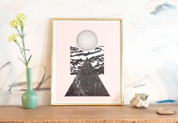 abstract geometric art with marble