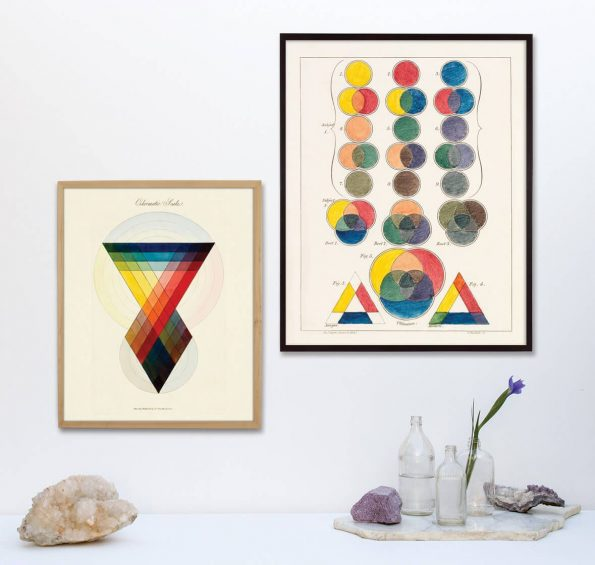 abstract geometric color study
