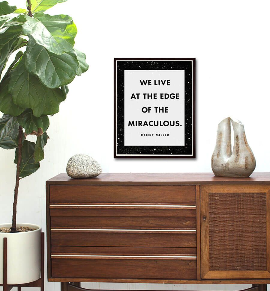 Henry Miller Literary Quote Capricorn Press - Henry miller furniture