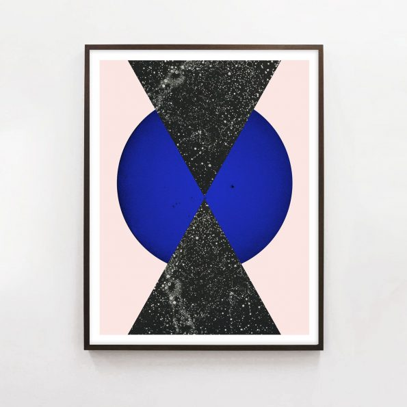 modern geometric art print with triangle art