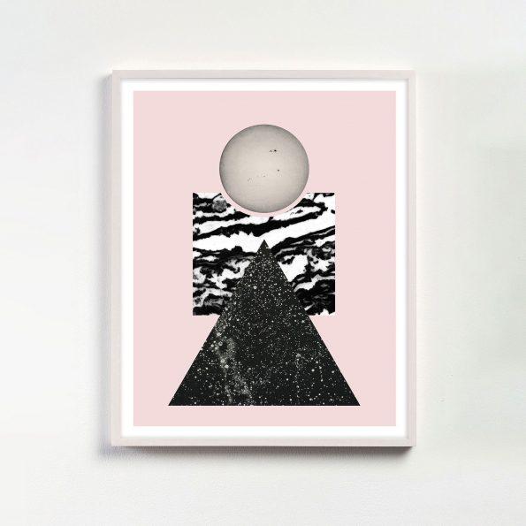 modern pink geometric art