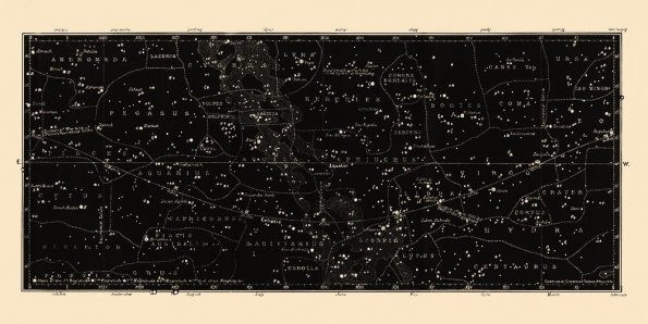 large horizontal star chart