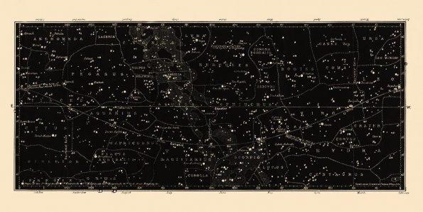 large horizontal star chart