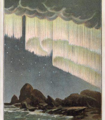 art deco aurora borealis