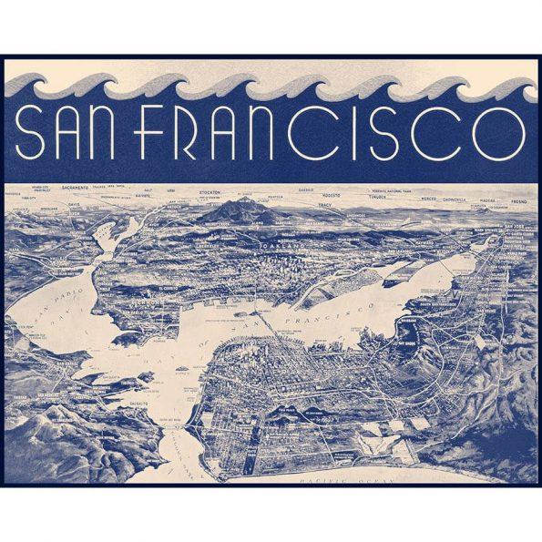 vintage san francisco map print