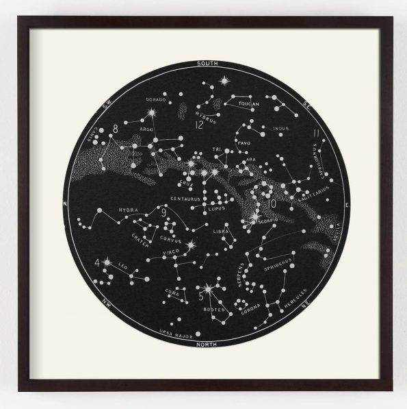 black star map print