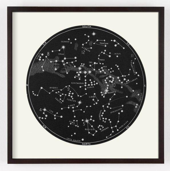 black star map print