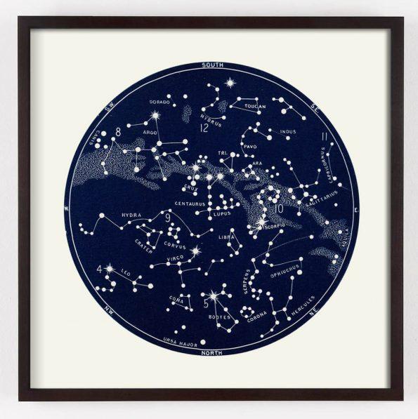 star map print