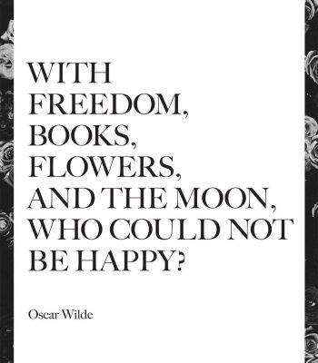 happy quote print
