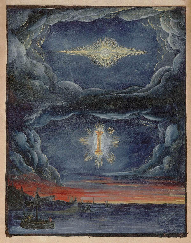 comet watercolor