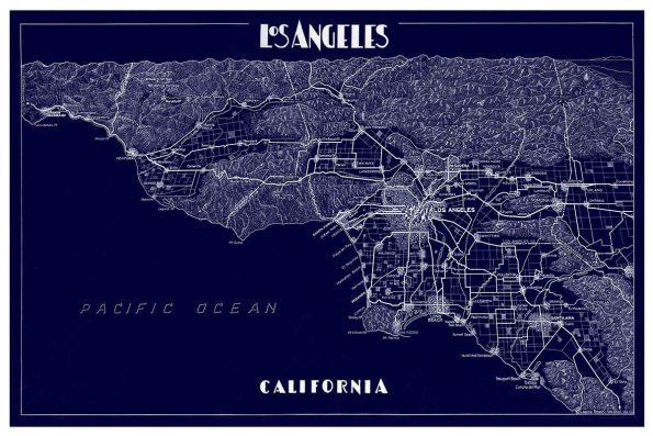 Los Angeles Map Print