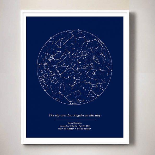 custom star map night sky