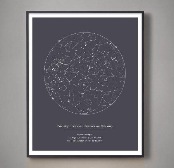 custom star map gray