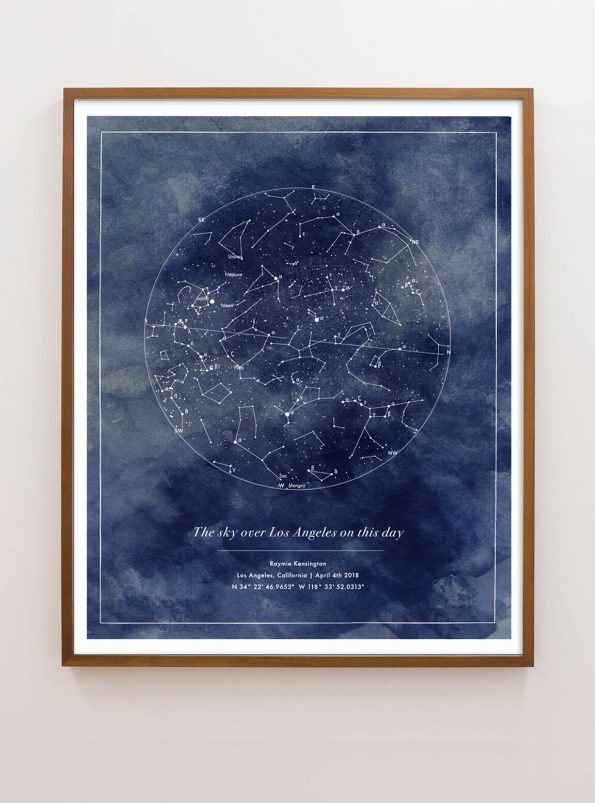 personalized constellation map