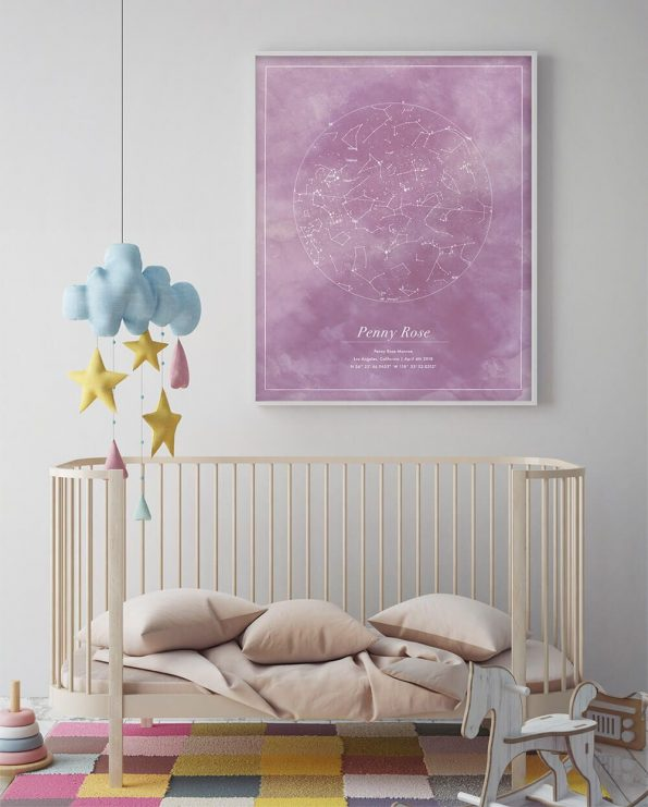 custom star map for nursery