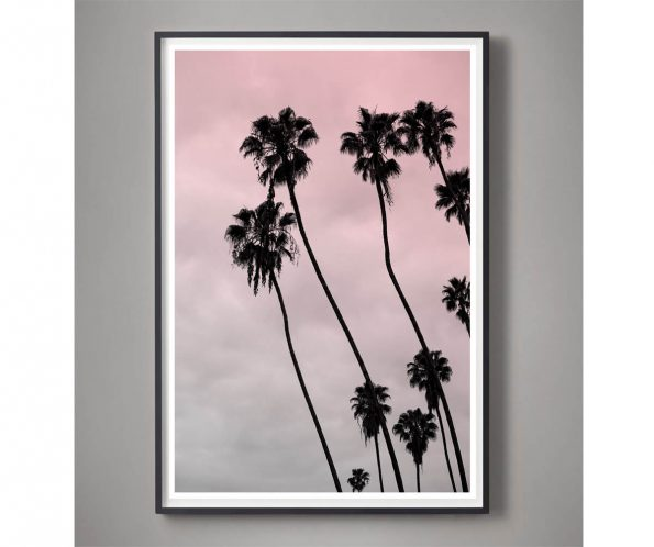 pink palm tree art