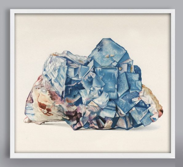 blue calcite gem print