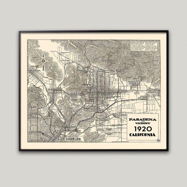 pasadena map print