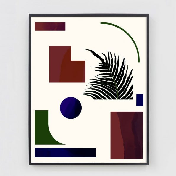geometric art collage print