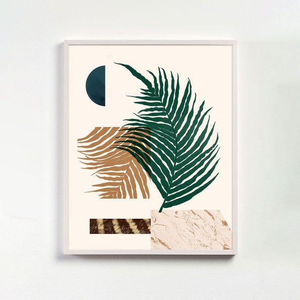 botanical collage print