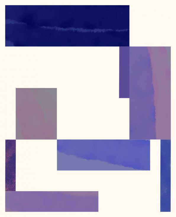 pink and purple abstract geometric print