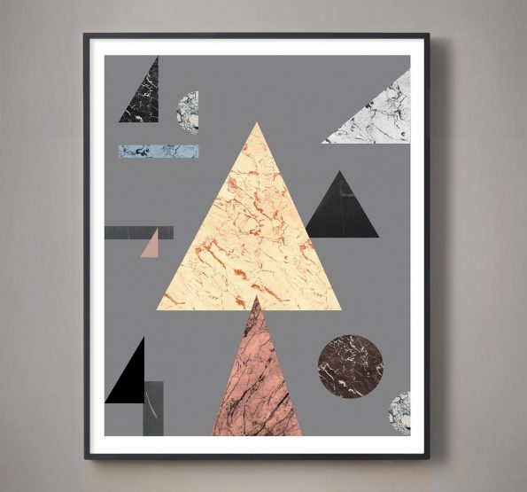 colorful triangle art