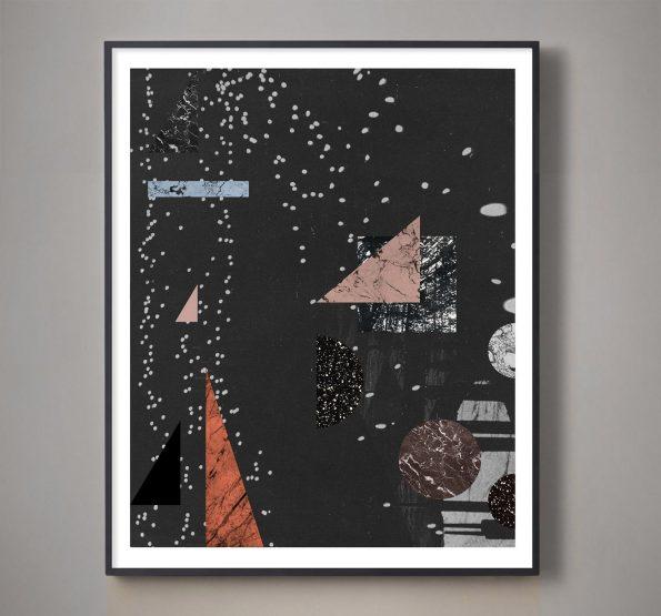 black geometric art