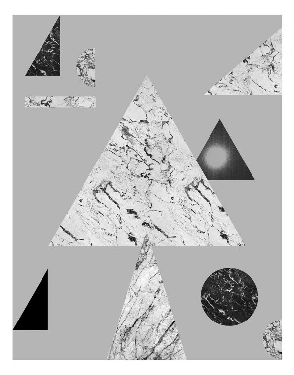black and white geometric art