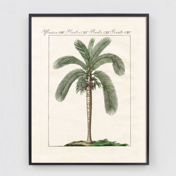 vintage deco palm tree