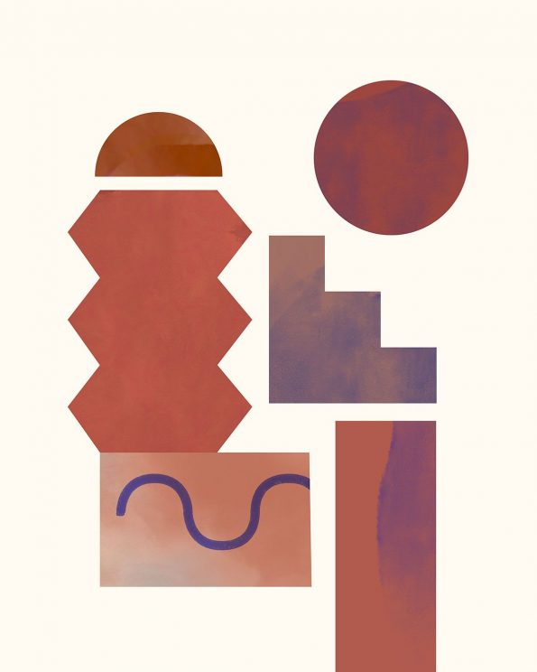 terracotta geometric art print